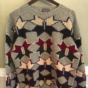 "Vintage ""Snowflake"" pattern Ski Sweater"